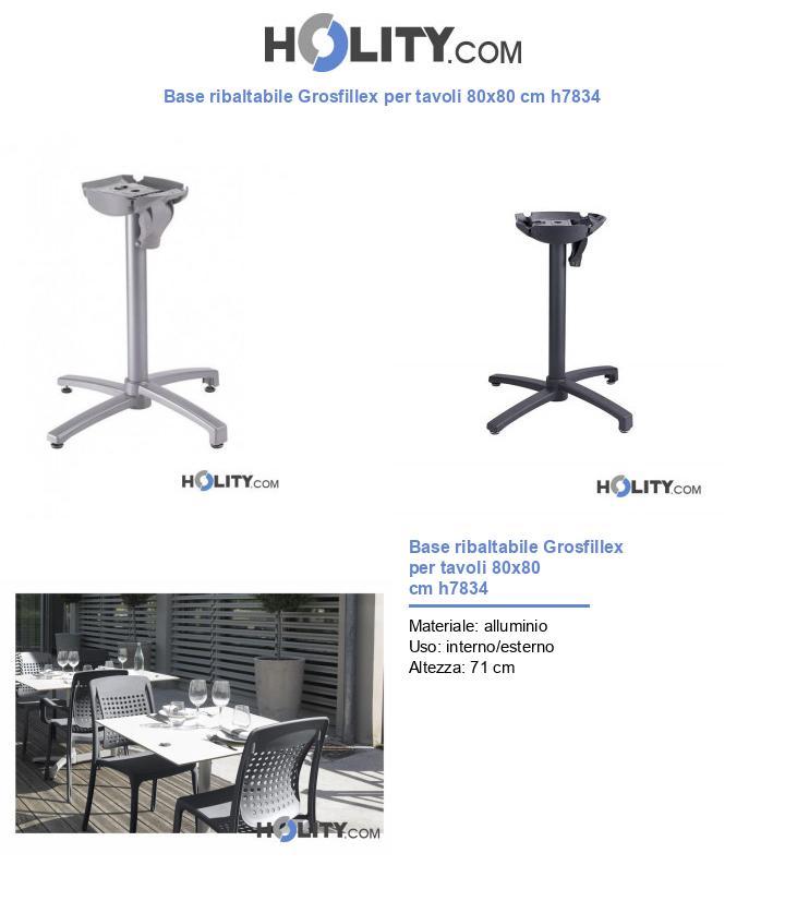 Base ribaltabile Grosfillex per tavoli 80x80 cm h7834