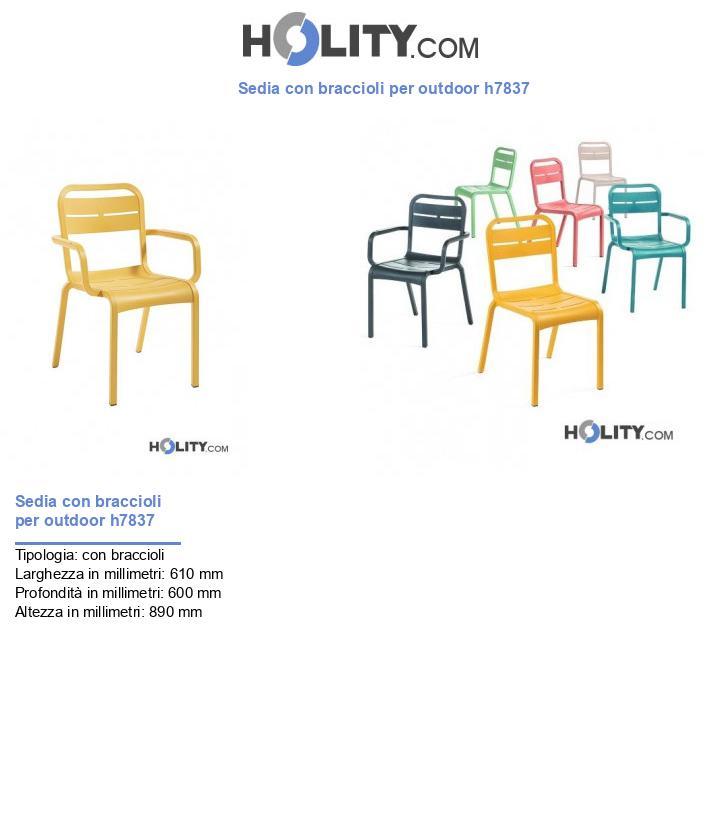 Sedia con braccioli per outdoor h7837