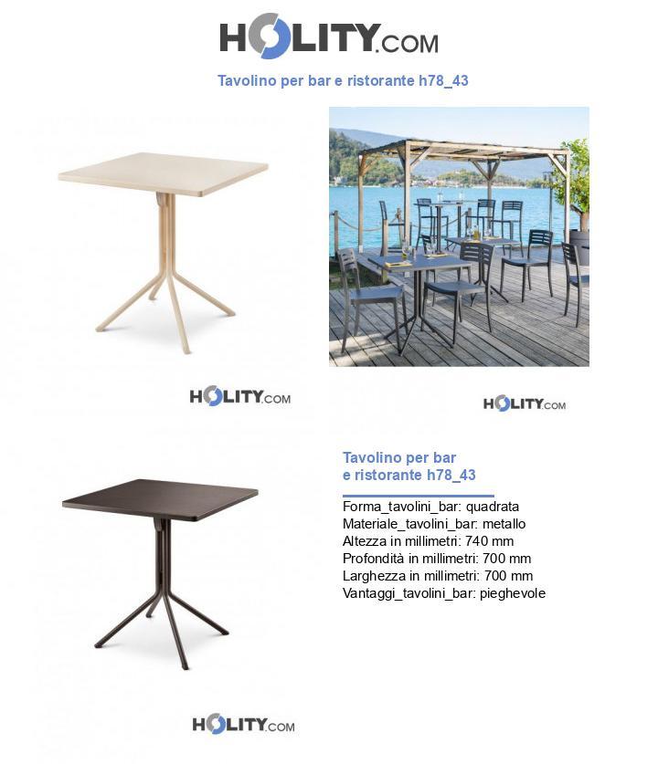 Tavolino per bar e ristorante h78_43