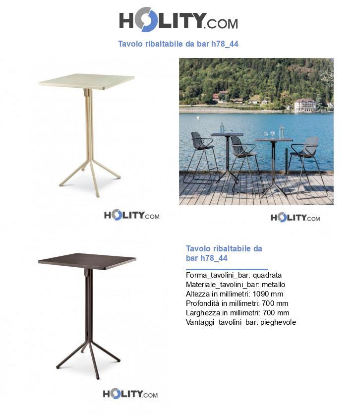 Tavolo ribaltabile da bar h78_44