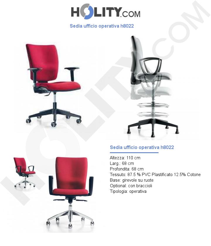 Sedia ufficio operativa h8022