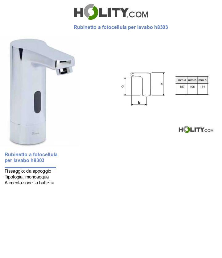 Rubinetto a fotocellula per lavabo h8303