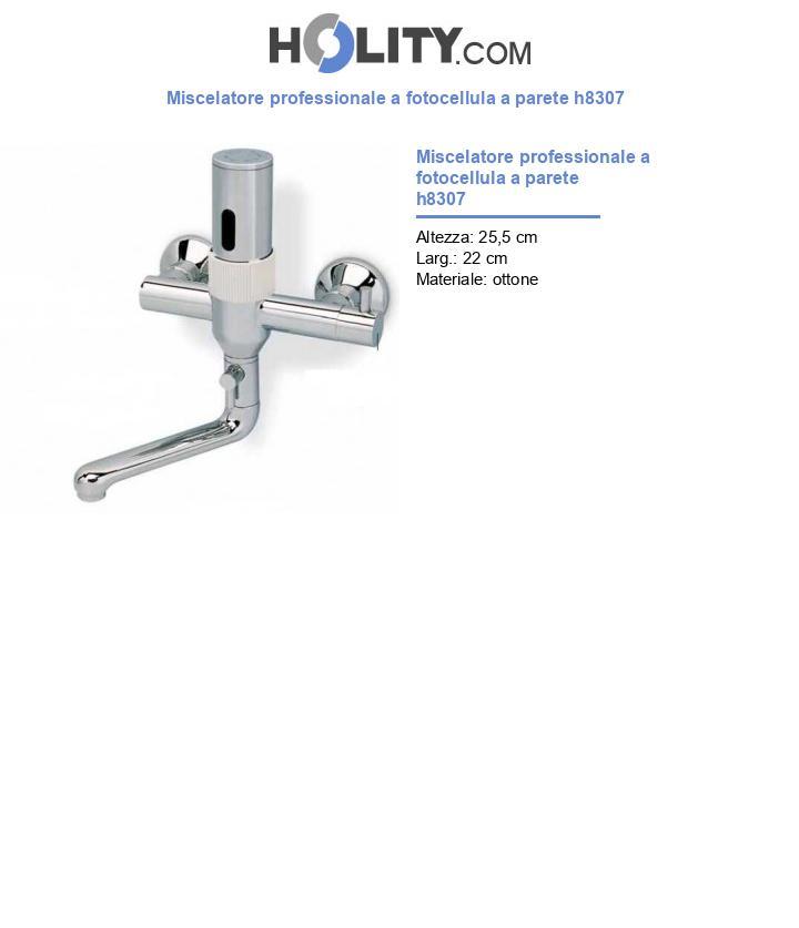 Miscelatore professionale a fotocellula a parete h8307