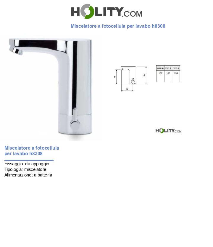 Miscelatore a fotocellula per lavabo h8308