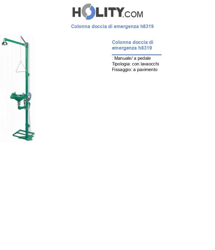 Colonna doccia di emergenza h8319