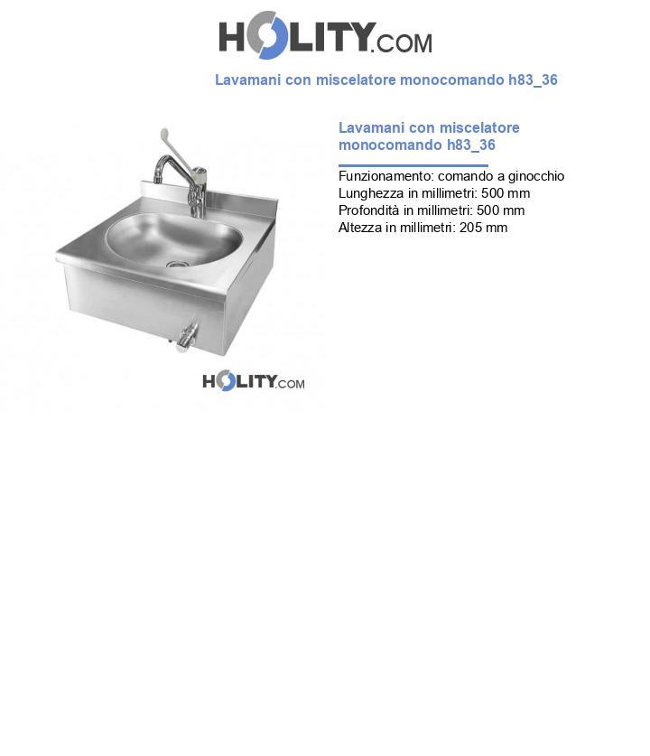 Lavamani con miscelatore monocomando h83_36