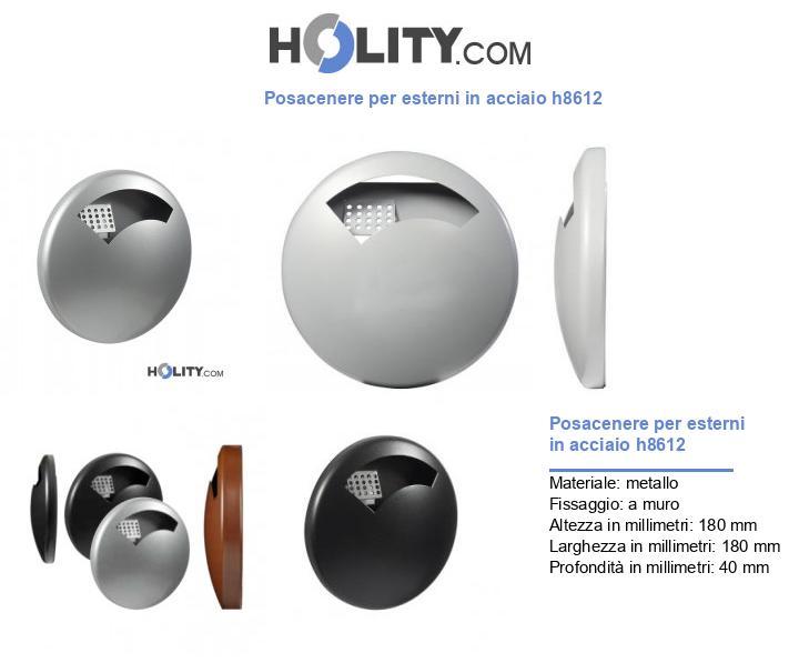 Posacenere per esterni in acciaio h8612