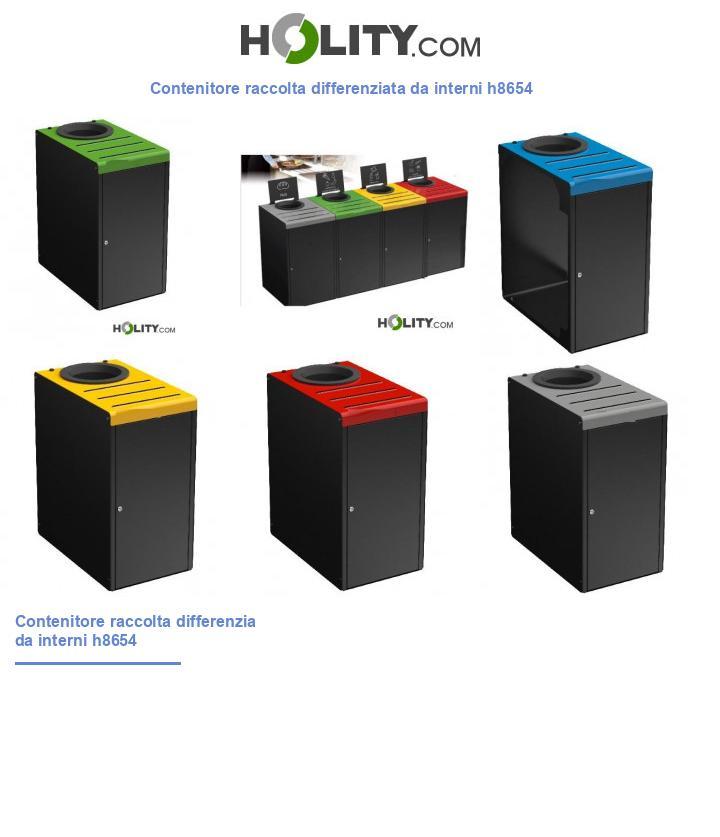 Contenitore raccolta differenziata da interni h8654