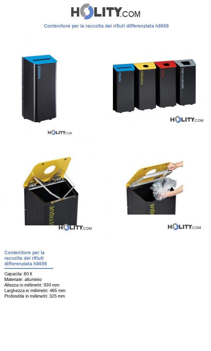 Contenitore per la raccolta dei rifiuti differenziata h8659