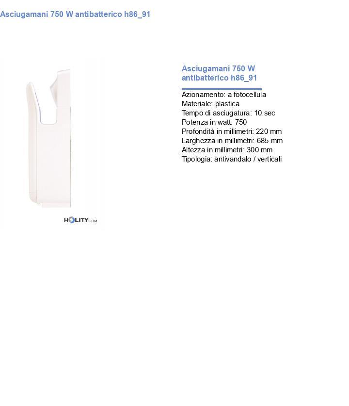 Asciugamani 750 W antibatterico h86_91