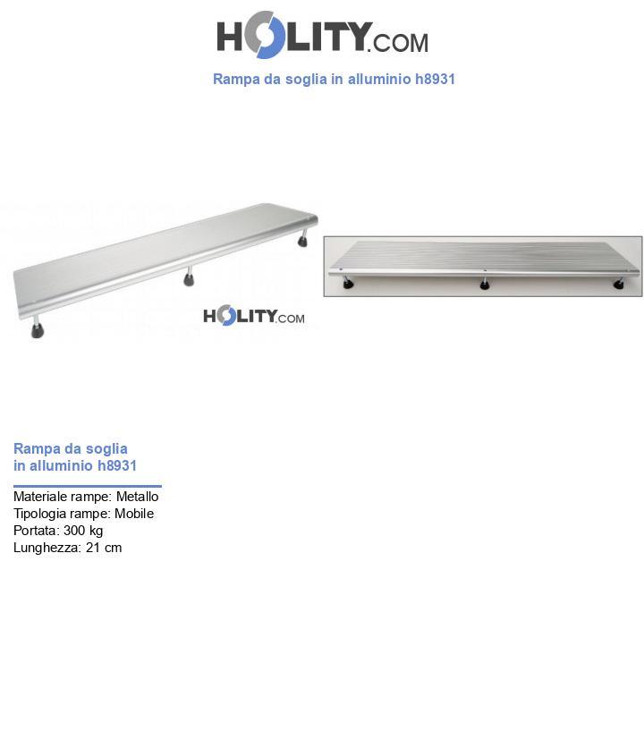 Rampa da soglia in alluminio h8931