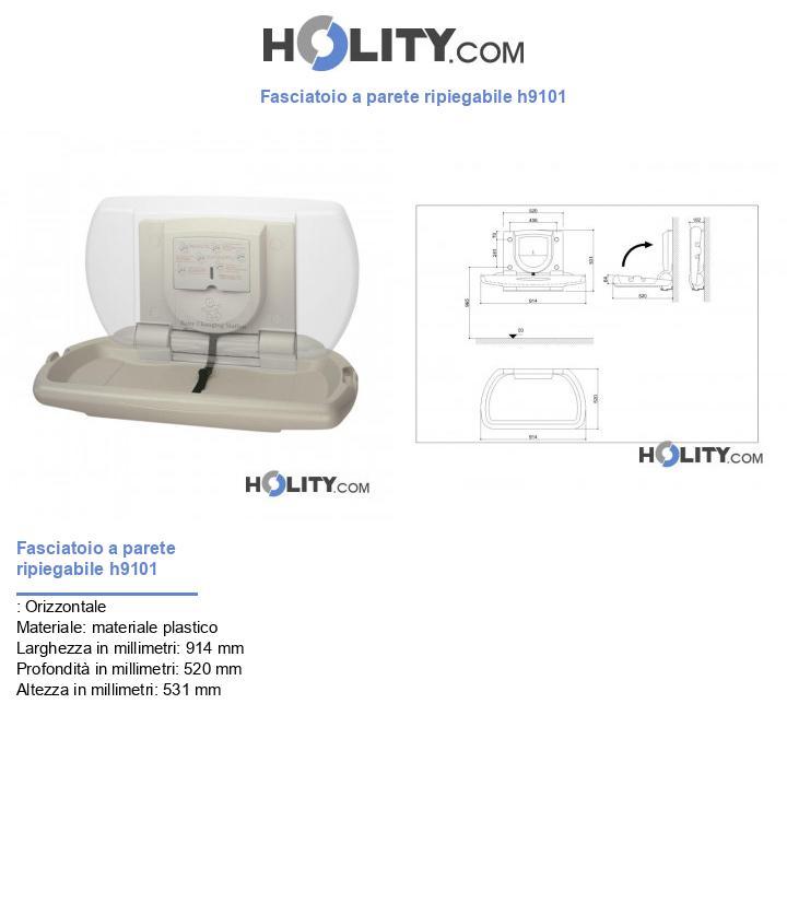 Fasciatoio a parete ripiegabile h9101