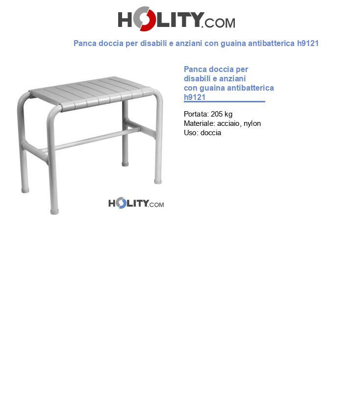 Panca doccia per disabili e anziani con guaina antibatterica h9121