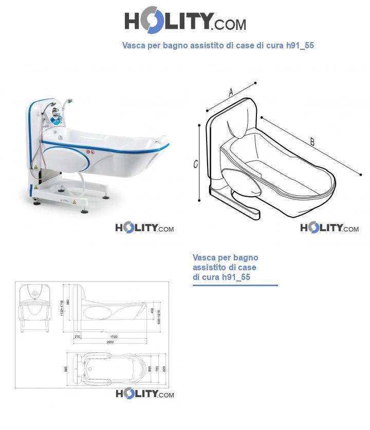Vasca per bagno assistito di case di cura h91_55