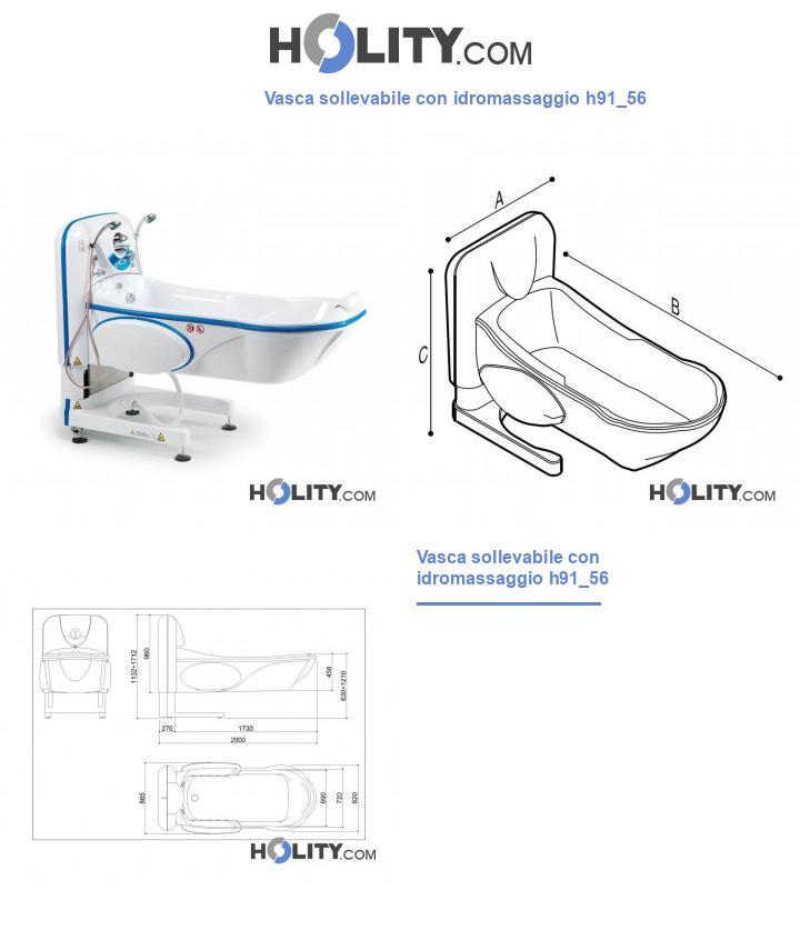 Vasca sollevabile con idromassaggio h91_56