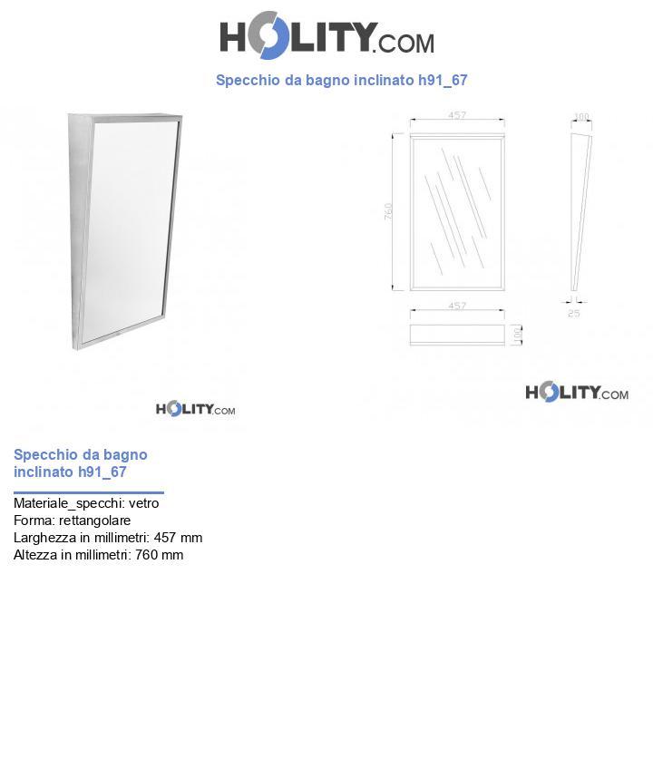 Specchio da bagno inclinato h91_67
