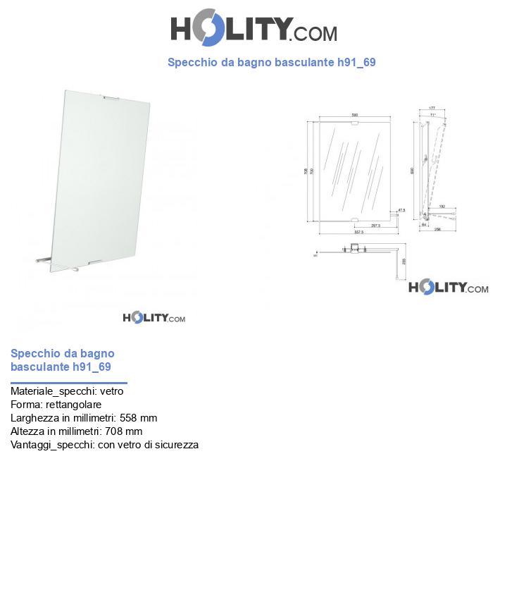 Specchio da bagno basculante h91_69