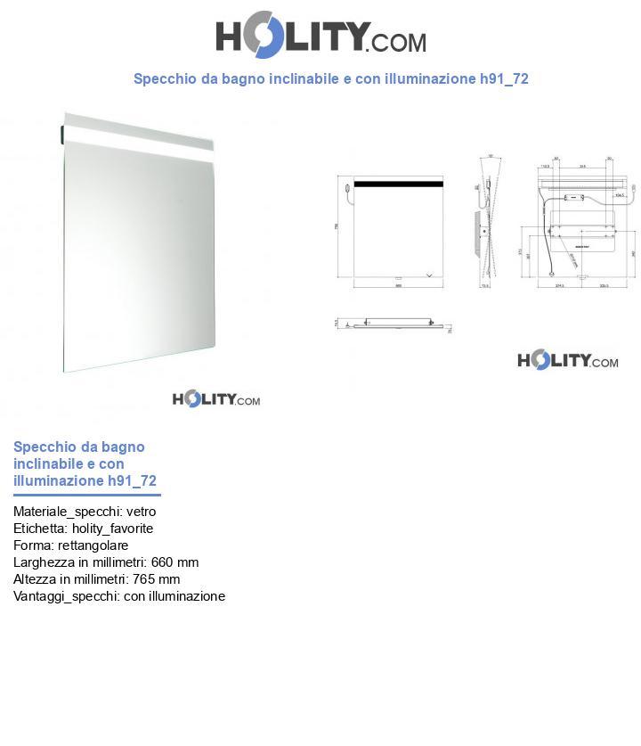 Specchio da bagno inclinabile e con illuminazione h91_72