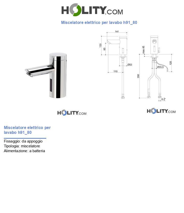 Miscelatore elettrico per lavabo h91_80