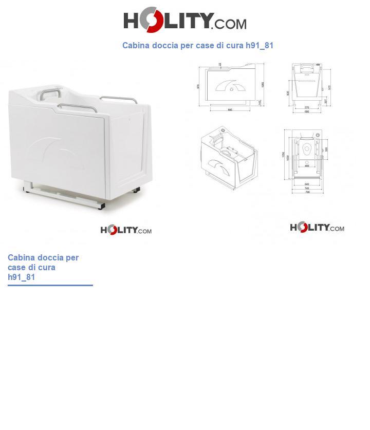 Cabina doccia per case di cura h91_81