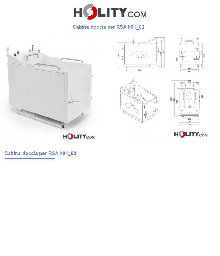 Cabina doccia per RSA h91_82