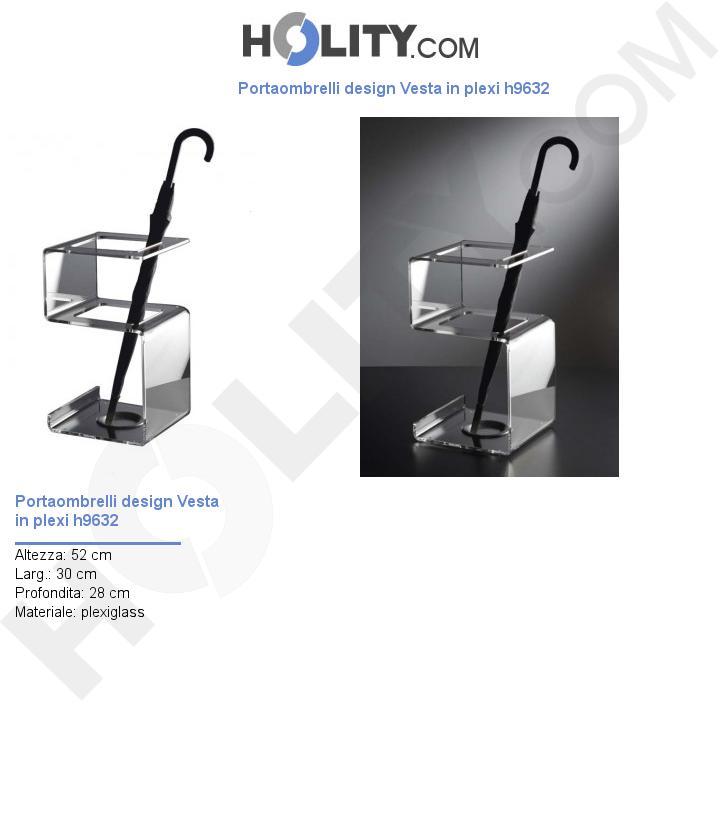 Portaombrelli design Vesta in plexi h9632