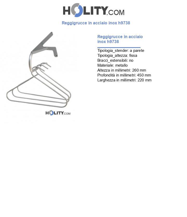 Reggigrucce in acciaio inox h9738