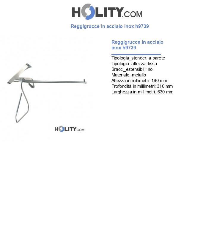 Reggigrucce in acciaio inox h9739