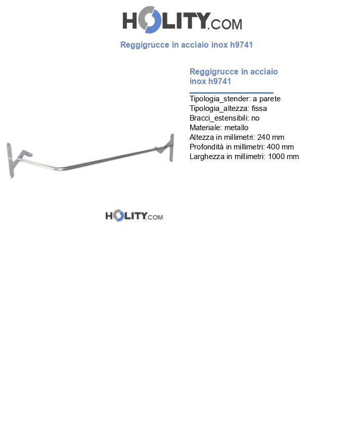 Reggigrucce in acciaio inox h9741
