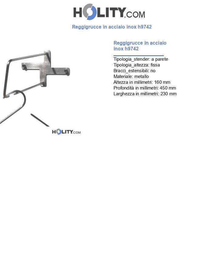 Reggigrucce in acciaio inox h9742