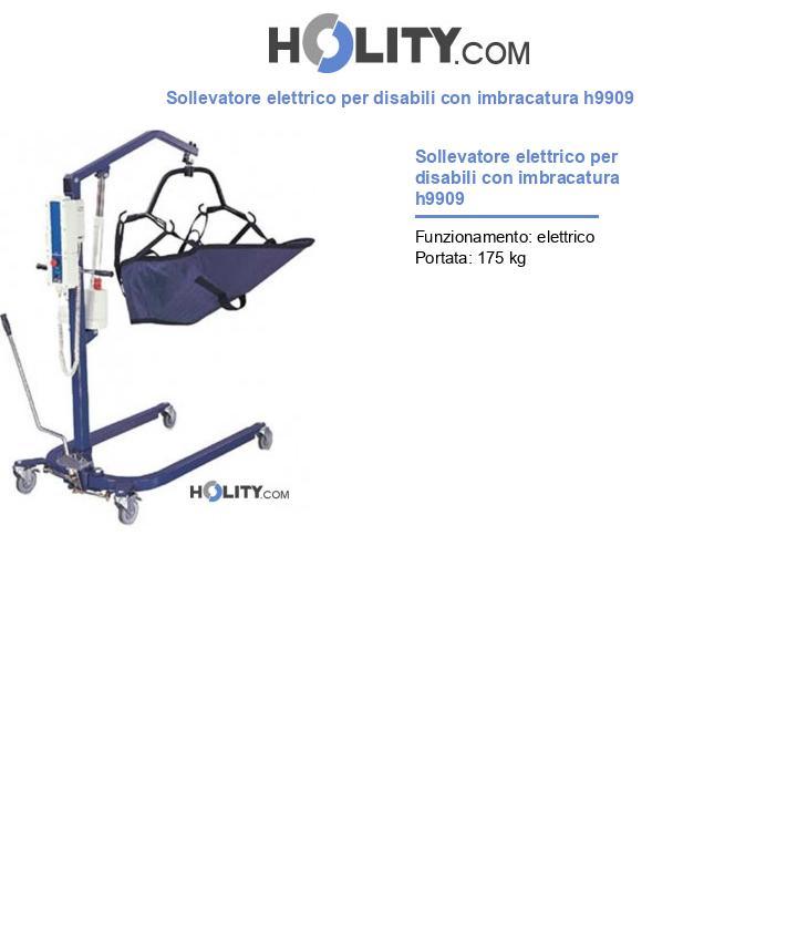 Sollevatore elettrico per disabili con imbracatura h9909