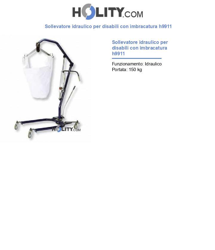 Sollevatore idraulico per disabili con imbracatura h9911