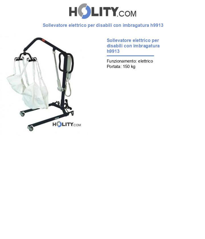 Sollevatore elettrico per disabili con imbragatura h9913