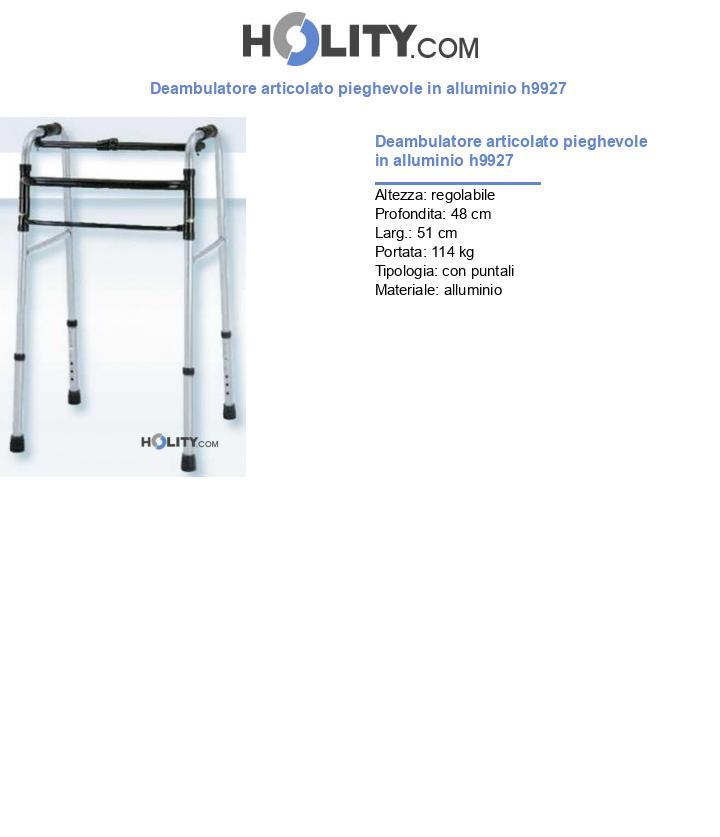 Deambulatore articolato pieghevole in alluminio h9927