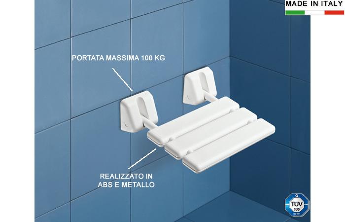 Sedile Per Doccia : Cerchi sedile per doccia ribaltabile antiscivolo in abs e alluminio