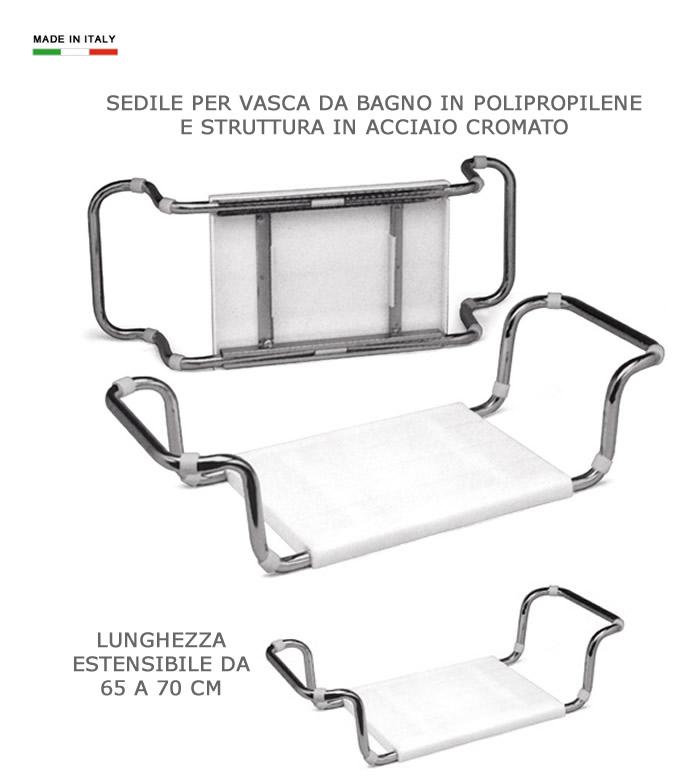 Cerchi Sedile Per Vasca Da Bagno In Polipropilene E Acciaio H5617