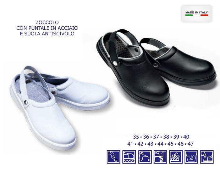 zoccoli unisex antinfortunistici con puntale h6558 - Scarpe Antinfortunistiche Da Cucina